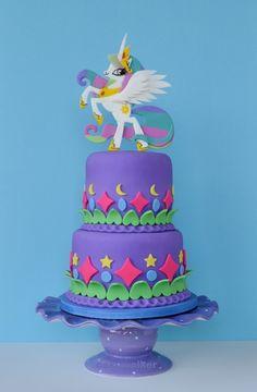 Princess Celestia Cake - Princess Celestia is featured in this 'My Little Pony' themed birthday cake.