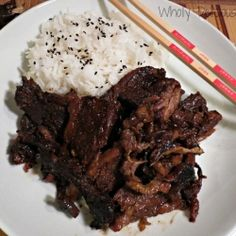 Hoisin sauce, mirin, honey and Chinese 5 spice powder to make a sweet and tangy Asian style beef sparerib. by WhollyDelicousDishes