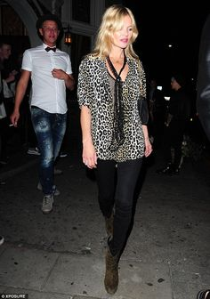 Turning heads: The 41-year-old supermodel looked absolutely sensational in an effortlessly...
