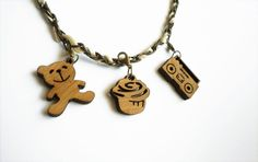 Cute Charms/pendants  laser cut bamboo by Vectorcloud on Etsy, $7.00