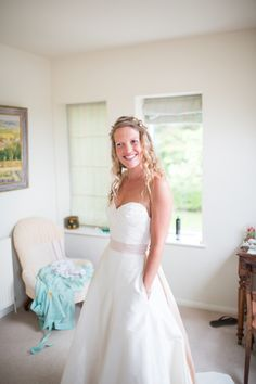 Tried this dress on- can't figure out the style number! I know it's Jim Hjelm's Blush line...    A Jim Hjelm Pocket Wedding Dress for a Rustic Country Wedding, Photos by Green Photographic