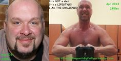 """Check out Pat Ryan's story! Down over 140lbs, putting on lean muscle mass with the Challenge and killin' it in the gym!    """"From 430lbs to288lbs, now 295lbs, gained 7lbs lean this Challenge so far. From a 58"""" waist to 40"""" waist, 3 knee surgeries and now look at me! 90 Day Challenge done in 26 days. Goal to lift 2 Million pounds in 90 days is getting closer. 573903lbs left to lift to hit goal and I have 11 workouts left! I am going to CRUSH IT!!! I WILL BE THE NEXT Vi Male Active Champion..."""