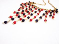Necklace Crystals Gold Chain by JewelryNeshElly on Etsy, $21.00