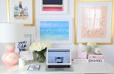 Lemon Stripes desk
