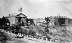 The Oberlin College chapel (left) and Tappan Hall circa 1860 #ThisWasCLE #SundayChurch