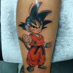 Tatuagens Geek | Goku na Perna