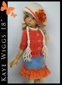 "OOAK Handmade Outfit for Kaye Wiggs 18"" MSD by Maggie and Kate Create"