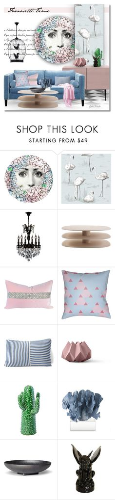 """Pink & Blue Fornasetti Time  .... 2017"" by greta-martin ❤ liked on Polyvore featuring interior, interiors, interior design, home, home decor, interior decorating, Fornasetti, Cole & Son, Worldwide Lighting and Décor 140"