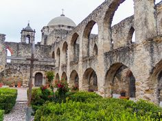 Photos of all the missions included in the San Antonio Missions National Historical Park.