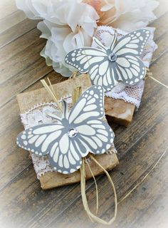 Bridal shower favors idea I just love the butterflies Bridal Shower Favours, Soap Wedding Favors, Bridal Shower Party, Bridal Shower Decorations, Bridal Showers, Everyone Is Getting Married, Amelia Wedding, Bridesmaid Brunch, Shabby Chic Gifts