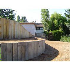 traverse de chemin de fer ou paysag res garden materials and technics pinterest chemins. Black Bedroom Furniture Sets. Home Design Ideas