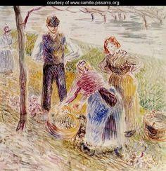 Harvesting Potatos - Camille Pissarro - www.camille-pissarro.org