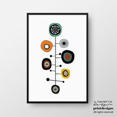 Printable Modern Mid Century Print by DreamPrintDesigns on Etsy Mid Century Modern Art, Mid Century Art, Modern Prints, Modern Wall Art, Modern Decor, Trendy Wallpaper, Typography Prints, Wall Art Designs, Geometric Art
