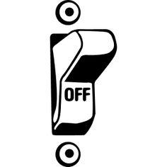 Off Schalter zum kippen - Ein Kippschalter zum Aus- bzw. Anschalten eines elektronischen Ger�tes.