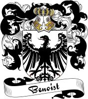 Benoist Coat of Arms  Benoist Family Crest   VIEW OUR FRENCH COAT OF ARMS / FRENCH FAMILY CREST PRODUCTS HERE