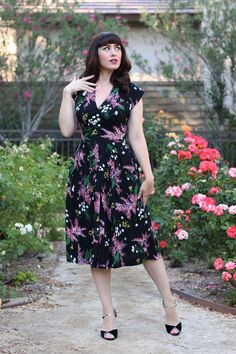 Emily and Fin Flora Dress in Whimsical Blooms Print