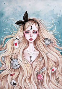 "Black-fury-art ~ ""Alice in Wonderland illustrations"",… Arte Emo, Alice Liddell, Chesire Cat, Alice Madness, Lewis Carroll, Disney Tattoos, Dark Art, Art Inspo, Fairy Tales"