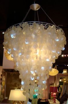 Lola Capiz Shell Chandelier | Tonic Home