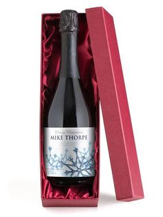 This personalised Prosecco is the pinnacle of giving a bottle for Christmas
