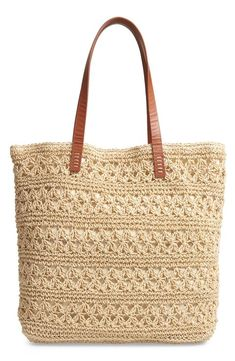 Looking for Nordstrom Packable Metallic Thread Woven Raffia Tote ? Check out our picks for the Nordstrom Packable Metallic Thread Woven Raffia Tote from the popular stores - all in one. Crochet Tote, Crochet Handbags, Best Beach Bag, Summer Beach, Straw Tote, Beach Tote Bags, Metallic Thread, Knitted Bags, Reusable Tote Bags