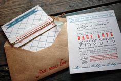 Gender neutral baby shower invites.    #letterpress #baby #shower