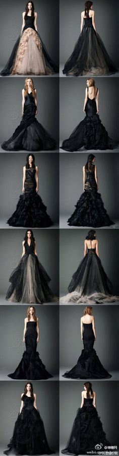 Absolutely a black wedding dress for me! Please & Thank you!