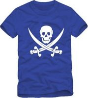 2014 Summer New Men's Pirate T-shirts Short Sleeve Hiphop Skateboard Pirate T shirts