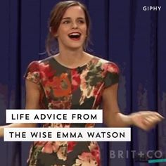 Things You Never Knew About Emma Watson Watch this quote-filled video for endless life advice from Emma Watson.Watch this quote-filled video for endless life advice from Emma Watson. Woman Quotes, Girl Quotes, Cool Quotes For Girls, Citations Emma Watson, New Quotes, Inspirational Quotes, 17 Again Quotes, Tina Fey Quotes, Advice Quotes