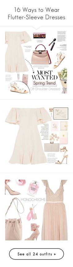 """""""16 Ways to Wear Flutter-Sleeve Dresses"""" by polyvore-editorial ❤ liked on Polyvore featuring waystowear, fluttersleeves, Valentino, Fendi, White Label, Anastasia Beverly Hills, Gianvito Rossi, topsetsbyleni, Louis Vuitton and John Lewis"""