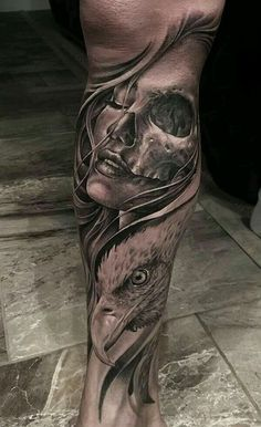 Badass Arm Tattoo Ideas For Guys - Best Arm Tattoos For Men: Cool Arm Tattoo Designs and Ideas For Guys - Badass Upper, Lower, Sleeve, and Back of Arm Tattoos Tattoos Arm Mann, Eagle Tattoos, Skull Tattoos, Body Art Tattoos, Sleeve Tattoos, Maori Tattoos, Tattos, Skull Girl Tattoo, Girl Face Tattoo