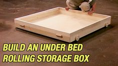 How to Maximize Storage Space. Do you wish you had more storage space? Here's how to build an under the bed storage box that rolls and stays out of the way. Kids Shoe Organization, Kids Shoe Storage, Under Bed Storage Boxes, Diy Storage Bed, Smart Storage, Bedroom Storage, Storage Spaces, Storage Ideas, Storage Design