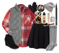 """""""Christmas contest! ( read the d! )"""" by shannaolo ❤ liked on Polyvore featuring Aéropostale, J.Crew, Arizona, Polo Ralph Lauren, Hue, MAC Cosmetics, Khristian A. Howell, By Terry, Essie and NARS Cosmetics"""
