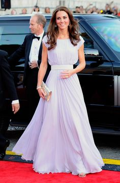 H.R.H. Duchess of Cambridge channelled Hollywood glamour & stunned in a lilac Alexander McQueen gown for the BAFTA Brits To Watch event, in LA, July 2011.