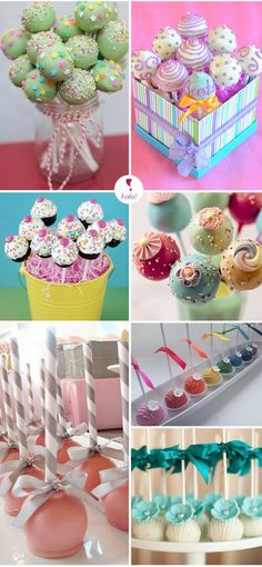Must have Cakepops at Payton's birthday party! Cakepops, Cake Pop Displays, Gateaux Cake, Festa Party, Macaron, Cute Cakes, Cupcake Cookies, Mini Cakes, Cakes And More