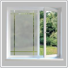 We've put together an inspiring range of contemporary window film designs to add to or create contemporary styling in your home or offices. Frosted Glass Design, Frosted Glass Window, Etched Glass Door, Small Bathroom Window, Bathroom Windows, Contemporary Window Film, Contemporary Style, Porch Windows, Window Privacy