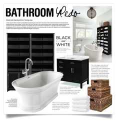 """Bathroom Redo 2145"" by boxthoughts ❤ liked on Polyvore featuring interior, interiors, interior design, home, home decor, interior decorating, Home Decorators Collection and bathroom"