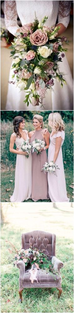Mauve and greenery wedding color ideas #greenweddings #weddingcolros #weddingideas #wedding / http://www.deerpearlflowers.com/greenery-wedding-color-palettes/2/