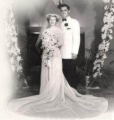 Apostles at Their Weddings: M. Russell Ballard married Barbara Bowen in the Salt Lake Temple on August 1951 Vintage Wedding Photos, Vintage Bridal, Wedding Pictures, Vintage Weddings, Wedding Attire, Wedding Gowns, Wedding Day, Wedding Tips, Lds Apostles