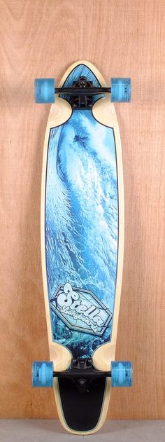 "Stella Prebuilt 42"" Bamboo Kicktail Flotsam Longboard Complete Bottom"