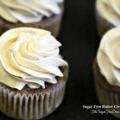 Sugar Free Butter Cream Icing with Splenda, Corn Starch, Softened Butter, Whipping Cream, Vanilla Extract. Diabetic Desserts, Sugar Free Desserts, Sugar Free Recipes, Cupcake Recipes, Healthy Desserts, Cookie Recipes, Dessert Recipes, Icing Recipes, Diabetic Recipes