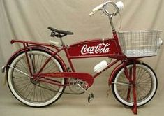 A circa 1946 Schwinn cycle-truck bicycle with Coca-Cola ..: