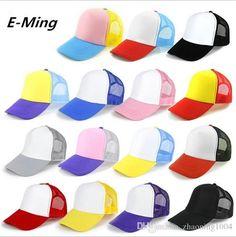 f1712e02a27 Designer Plain Baseball Mesh Cap Adjustable Snapback Blank Trucker Hats  Mens Womens Adults Cheap Sun Visors