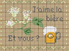 Cuisine - kitchen - bière - point de croix - cross stitch - Blog : http://broderiemimie44.canalblog.com