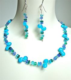 Double strand twisted necklace and earring by sparklecityjewelry, $35.00