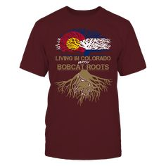 Texas State Bobcats - Living Roots Colorado T-Shirt, TIP: If you buy 2 or more (hint: make a gift for someone or team up) you'll save quite a lot on shipping.  Click the GREEN BUTTON, select your size and style.  The Texas State Bobcats Collection, OFFICIAL MERCHANDISE  Available Products:          Gildan Unisex T-Shirt - $25.00 District Women's Premium T-Shirt - $30.00 District Men's Premium T-Shirt - $28.00 Next Level Women's Premium Racerback Tank - $30.00 Gildan Unisex Pullover Hoodie…