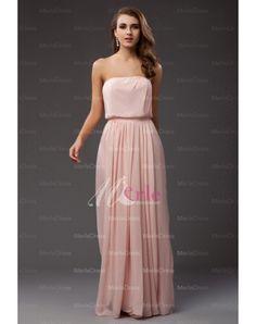 Sheath/Column Strapless Sleeveless Floor-length Ruffles Chiffon Dresses