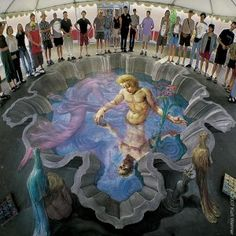 Echo and Narcissus - 3D Street Art