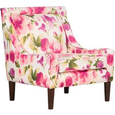 Mari Accent Chair Signs of Spring Tulip ❤ liked on Polyvore featuring home, furniture, chairs, accent chairs, fabric chair, floral furniture, swoop chair, upholstered accent chairs and spring furniture