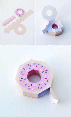 Muy cuqui: Caja con forma de donut