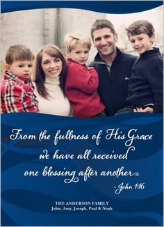 His Grace Alone Religious Christmas Card